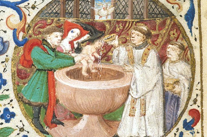 medieval-baptism