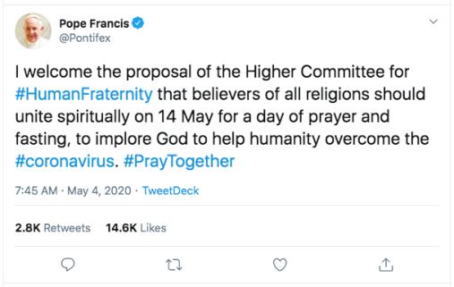 Francis Tweet_pontifex:status:1257290127224844289.png